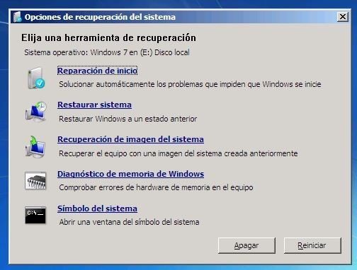 Windows Recovery Enviroment (o WinRE)