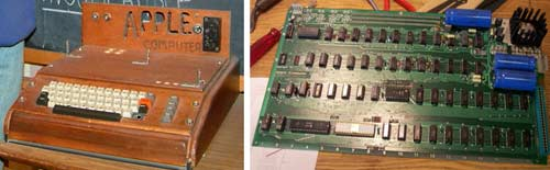 Ordenador Apple I - caja y placa base